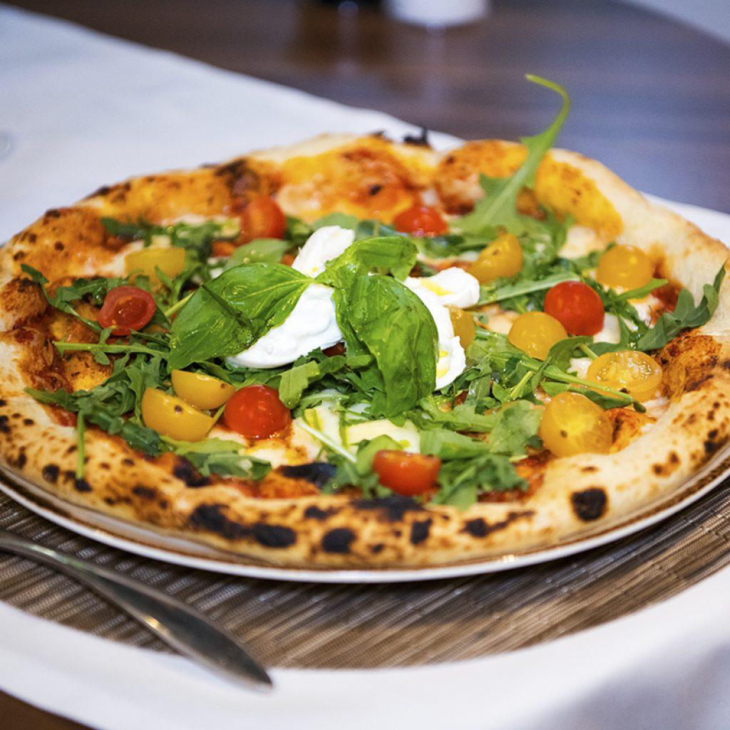 Pizza Burrata monte cristo
